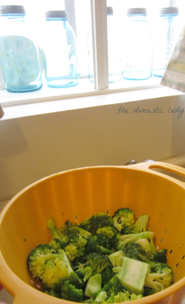brown rice broccoli 1