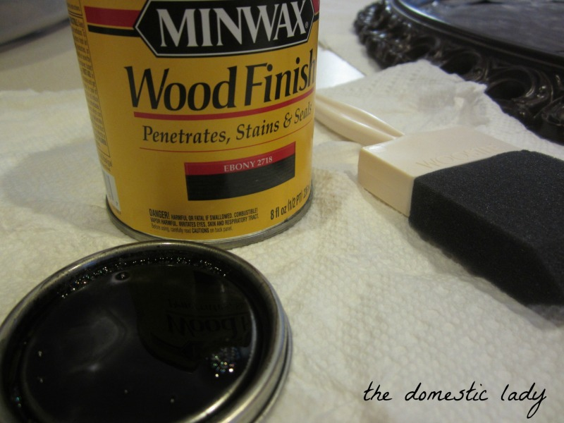 ebony stain wood