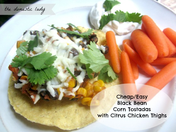 black bean corn tostadas
