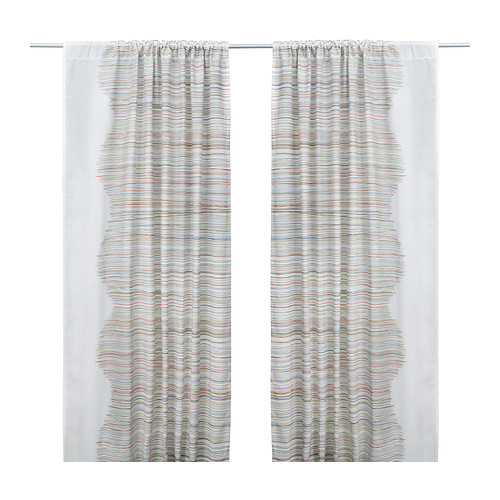 MALIN TRÅD Curtains, 1 pair, multicolor