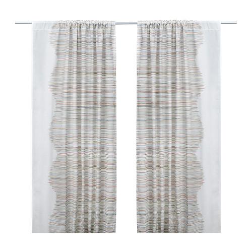 MALIN TRÅD Curtains, 1 pair, multicolor