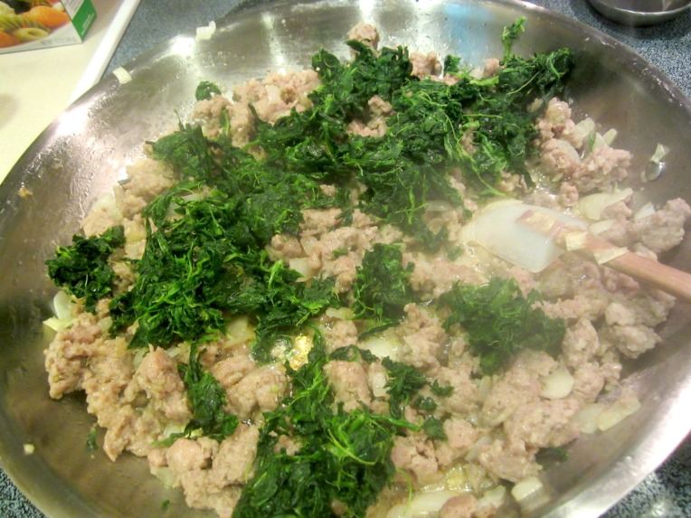 pork and spinach