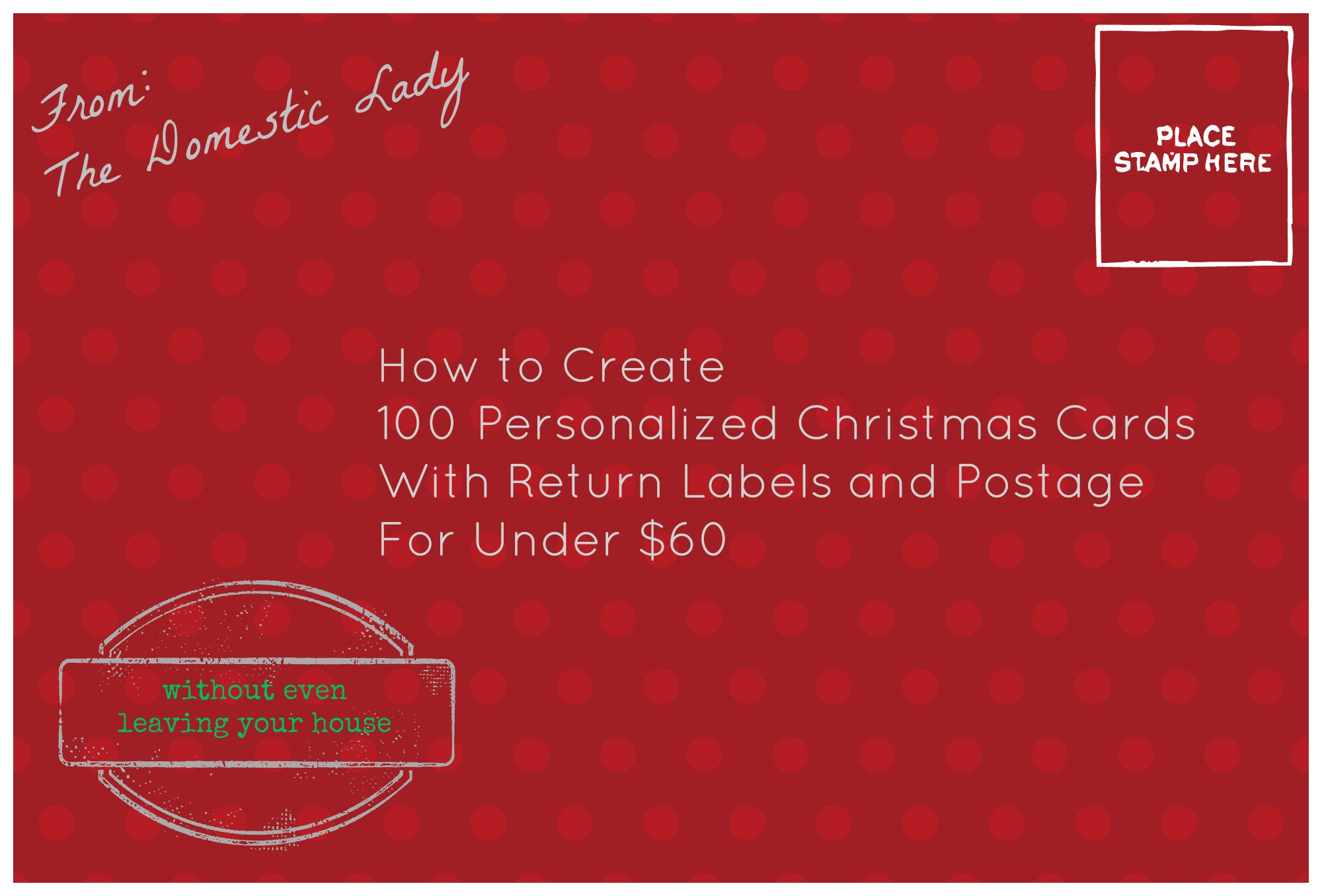 How To Create 100 Personalized Christmas Cards for Under $60 ...