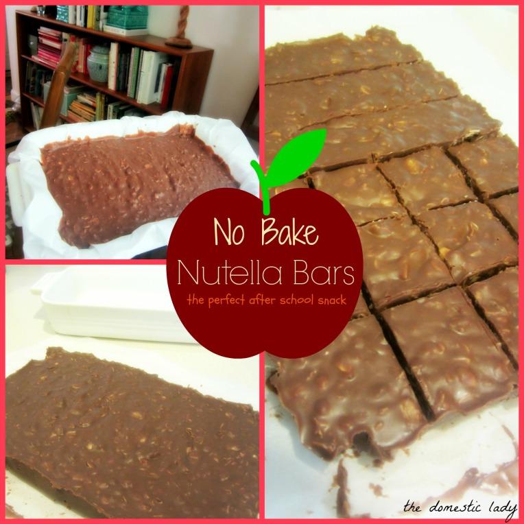No Bake Nutella Bars- perfect after school snac