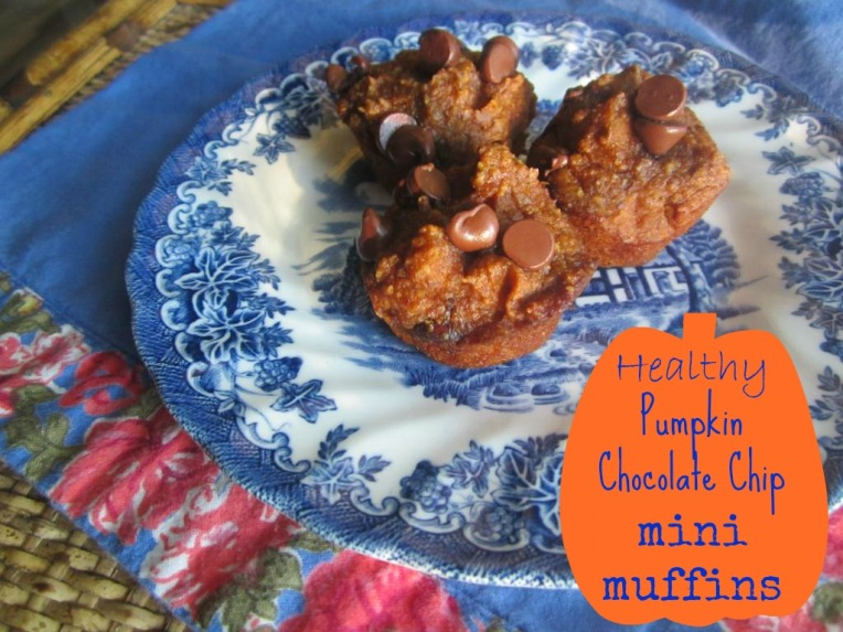 The Domestic Lady - pumpkin chocolate chip mini muffins