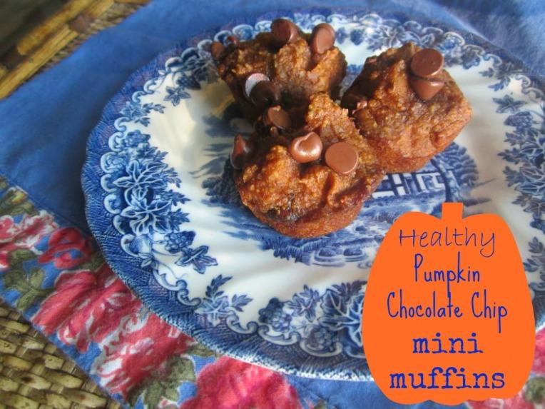 The Domestic Lady - pumpkin chocolate chip mini muffins