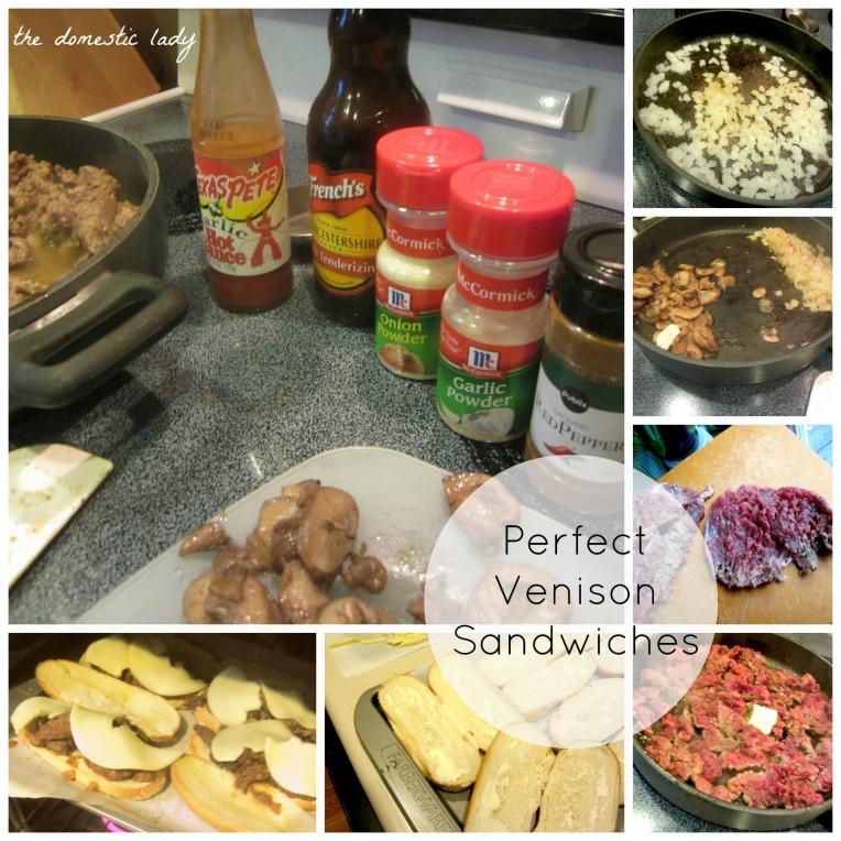 Venison Sandwich Collage