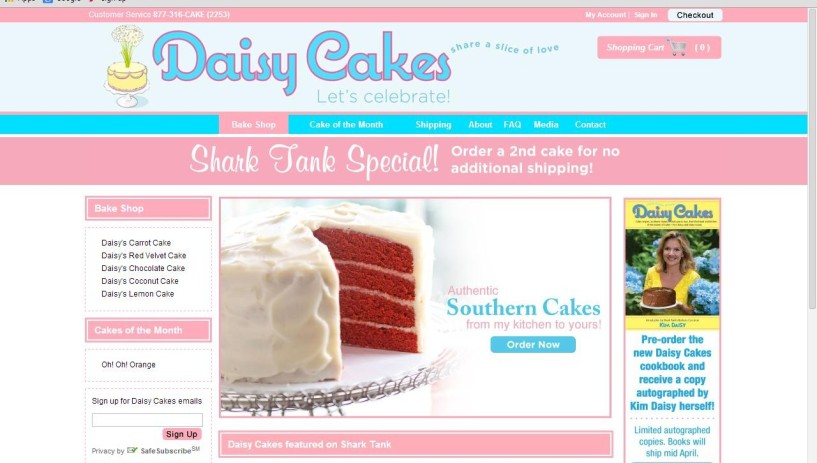 daisy cakes website