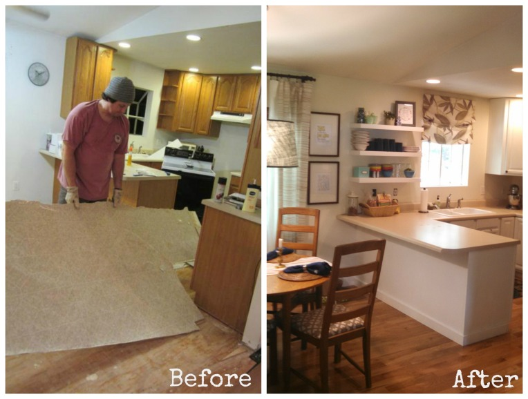 Before After Kitchen Cabinets