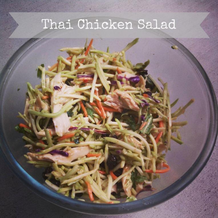 Thai Chicken Salad- thedomesticlady.com