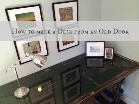Charmant Door To Desk Tutorial  Thedomesticlady.com