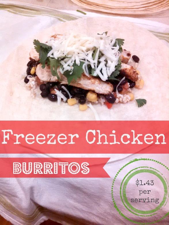 Freezer Chicken Burritos
