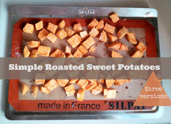 Three different ways to make roasted sweet potatoes! thedomesticlady.com