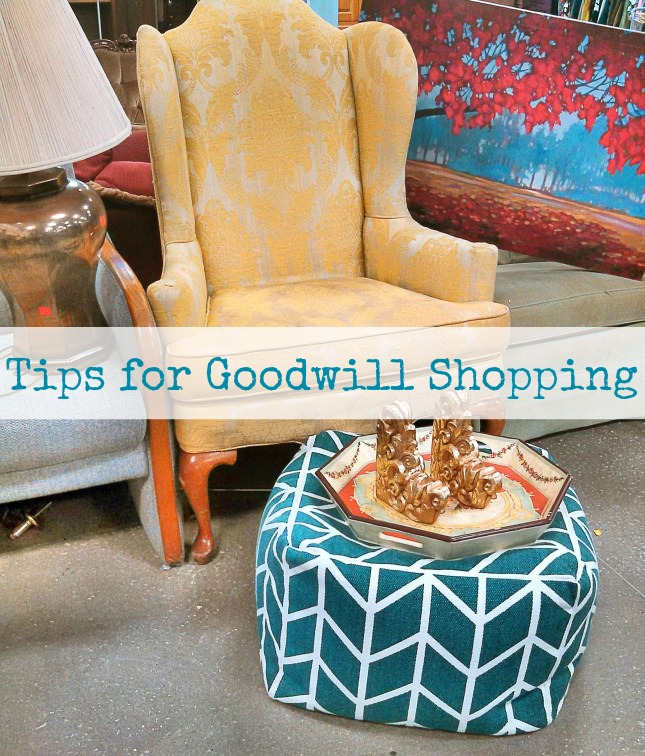 Tips for Goodwill Shopping